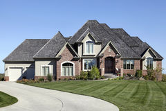 Luxury brick home Stock Image