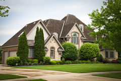 Luxury Brick House Royalty Free Stock Photo