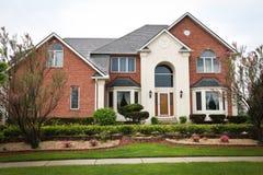 Luxury Brick House Royalty Free Stock Photography