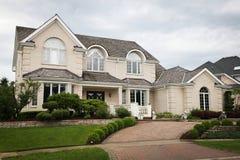 Luxury Brick House Stock Photos