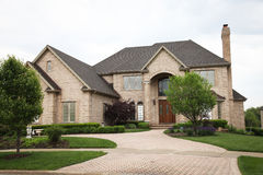 Luxury Brick House Stock Image