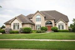 Luxury Brick House stock image