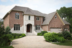 Luxury Brick House Stock Images