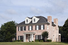 Luxury Brick House. A Beautiful Two Story Luxury Brick House in Suburbs stock photography
