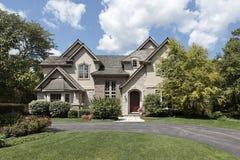 Luxury brick and stone home Royalty Free Stock Photo