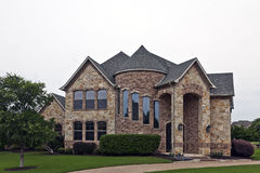 Luxury Brick Stone House Royalty Free Stock Image