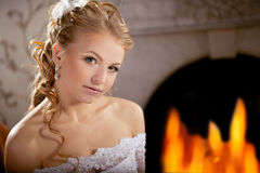 Luxury bride on a bright background Stock Image