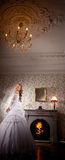 Luxury bride on a bright background Royalty Free Stock Photo