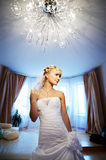 Luxury Bride in interior of hotel Stock Photos