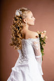 Luxury bride with wedding hairstyle Royalty Free Stock Photos