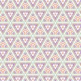 Bright Abstract Colorful Triangle Illusion  Pattern Background. Luxury Bright Abstract Colorful Triangle Pattern Fabric Vector Background Illustration Royalty Free Stock Images