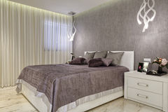 Luxury Bright Bedroom Royalty Free Stock Photo