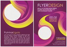 A4 luxury brochure flyer design layout template Royalty Free Stock Photo