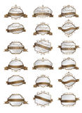 Luxury brow labels and blank labels template.  Royalty Free Stock Images