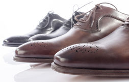 Luxury brown and black shoes Stock Photography