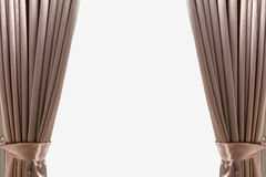 Luxury brown leather curtain background Stock Photo