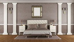 Luxury brown master bedroom Stock Photography