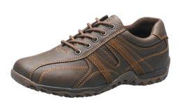 Luxury brown men shoe Stock Image