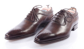 Luxury brown shoes Stock Photo