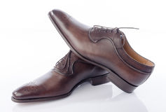 Luxury brown shoes Royalty Free Stock Photography