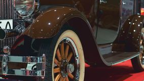 Luxury brown vintage vehicle. On the red carpet stock video