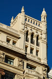Luxury building. Detail of a historic builiding facade - luxury apartments royalty free stock images