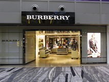 Luxury Burberry retail boutique outlet Royalty Free Stock Images