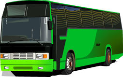 Luxury bus. A green colured Luxury bus isolated Stock Image
