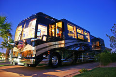 Luxury Bus. The ultimate in luxury travel, this bus conversion has it all.  This is the ONLY way to travel Stock Images