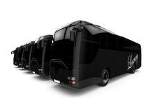 Luxury Bus Fleet Royalty Free Stock Photography
