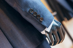 Luxury button suit on mannequin Royalty Free Stock Photo