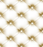 Luxury buttoned beige light leather. EPS 8 Stock Images