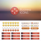 Luxury Buttons. Set of hand drawn web icons for business finance and communication with Stock Photo