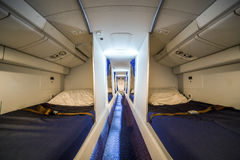 Luxury cabin for airplane crew Royalty Free Stock Image
