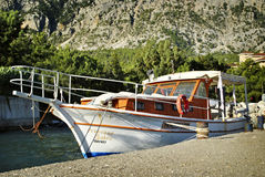 Luxury cabin cruiser Stock Images