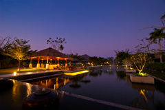 Luxury cafe and lake bar at AKA Resort & Spa royalty free stock image