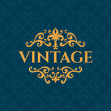 Luxury calligraphic vintage frame with beautiful Stock Photography