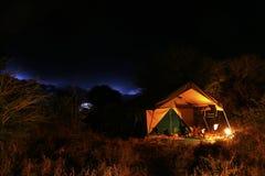 Luxury camping,ensuite, Meru style Stock Photo