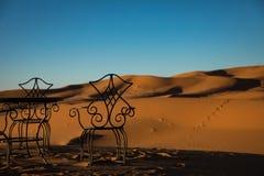 Luxury Camping in Sahara. Sahara Desert Sunset Camp Morocco stock photography