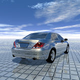 Luxury car. Luxury expensive car with reflection in background Royalty Free Stock Photos
