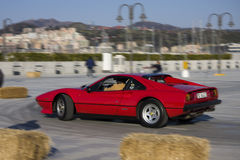 Luxury car. 1th Marine Airport Genoa Circuit Royalty Free Stock Images