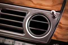 Luxury car air vent Royalty Free Stock Photos