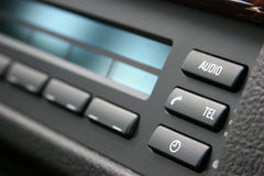 Luxury car audio system. Audio system in a german SUV Royalty Free Stock Photography