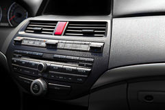 Luxury car audio system royalty free stock images