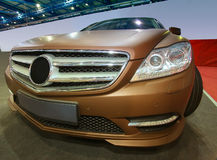 Luxury car on auto show Stock Photography