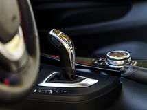 Free Luxury Car Automatic Transmission Handle Royalty Free Stock Photos - 46050438