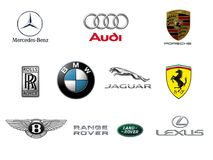 Luxury Car Brand Logos Royalty Free Stock Photo
