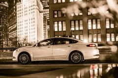 Luxury Car in Chicago Stock Images