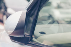Luxury car closed wing mirror after parking Royalty Free Stock Photos