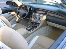 Luxury car convertible interior 1 stock photography